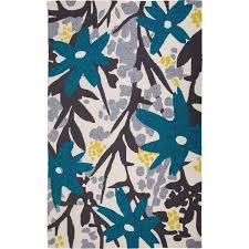 trading pattern shipping m a trading hand tufted bloom grey turquoise 5 x 8 free