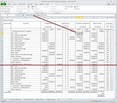 Trial Balance Sheet Template Excel by Excel Fsm Tutorial Trial Balances Side By Side Financial