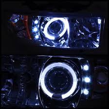 2001 dodge ram headlights 1994 01 dodge ram 1500 2500 smoke led halo projector headlights