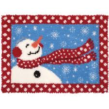 Latch Hook Rugs Mary Maxim Wish Upon A Snowflake Latch Hook Rug Kit