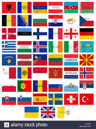 Flags Of European Countries Illustration Of The Flags Of All The Countries That Make Up Europe
