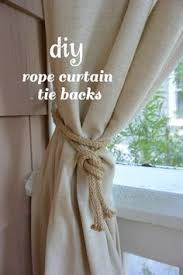 Curtain Rope Tie Backs Make Your Own Rope Curtain Tiebacks With Hardware From Builders