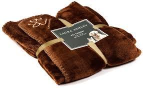 amazon com laura ashley reversible micro fur pet dog bed blanket