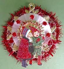 vintage look christmas ornament victorian vtg 1900 u0027s postcard kids