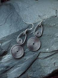 aluminum earrings aluminum earrings spiral aluminum earrings handmade aluminum