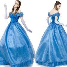 Halloween Costume Cinderella Halloween Costumes Women Blue Shoulder Jasmine