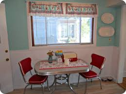 interior beautiful small retro dining room decoration using red