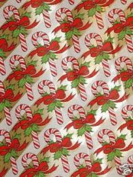 commercial wrapping paper vintage christmas wrapping paper candy canes and snowflakes