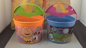 mcdonalds happy meal toys 2016 peanuts halloween pails set of 2