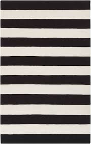 White And Black Area Rug Frontier Collection 100 Wool Area Rug In Jet Black And White