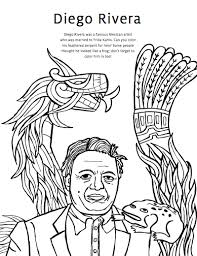 Coloring Pages Diego Rivera | diego rivera coloring pages frida kahlo coloring pages diego