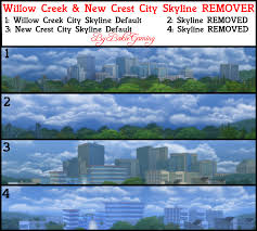 backdrop city mod the sims city skyline backdrop remover overwrite