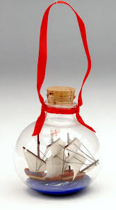mayflower ship in a bottle ornament plimoth plantation museum shop