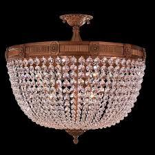 Semi Flush Mount Ceiling Light W33353fg24 Cl Winchester 9 Light French Gold Finish Crystal Semi
