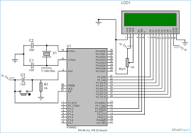 lcd interfacing with 8051 microcontroller 89s52 tutorial with