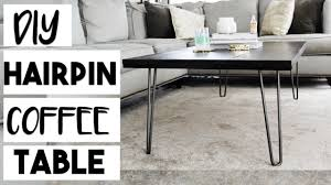 Hairpin Legs Coffee Table Diy Decor Diy Hairpin Leg Coffee Table For 100