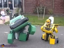 Transformer Halloween Costumes Transformers Bumblebee Bulkhead Creative Diy Halloween