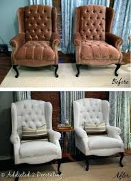 how to reupholster a wingback chair image of black reupholster