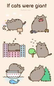 Pusheen Cat Meme - pusheen if cats were giant pusheen the adorable bouncy cat