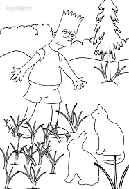 printable simpsons coloring pages kids cool2bkids