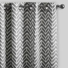 Black And Gray Curtains Charcoal Gray Arrow Cotton Curtains Set Of 2 World Market