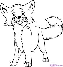 how to draw a cartoon fox step by step cartoon animals animals