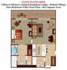 animal kingdom 2 bedroom villa floor plan one bedroom villa floor plan kidani village from yourfirstvisit net