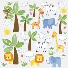 wall decal jungle safari wall decals thousands pictures of jungle animals 47 big wall decals zebra lion giraffe trees baby room