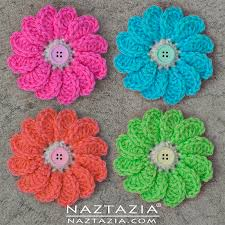 Crocheted Flowers - crochet flowing flower diy free pattern and youtube tutorial