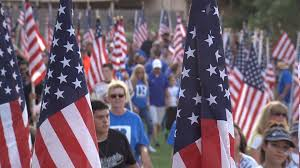 Flag Football Odessa Tx Thousands Of Flags Placed Around Memorial Gardens Park In Honor Of