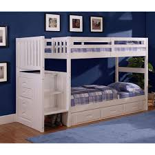 Stair Bunk Beds Staircase Bunk Bed White Finish Sam S Club