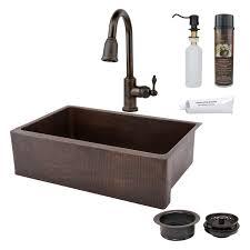 premier copper products kasrdb33249 single basin farmhouse sink