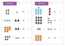 minibeast subtraction worksheets free early years u0026 primary