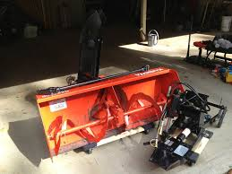kubota front mount blower for a b series orangetractortalks