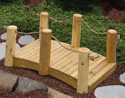 treated pine mini rail bridge