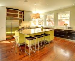 lime green kitchen colour schemes with cool light fixtures and
