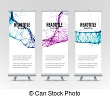 promotional exhibition stand template promotional vector