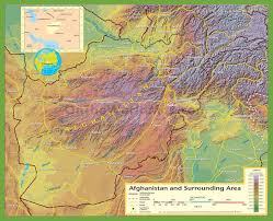 France Physical Map by Large Physical Map Of Afghanistan