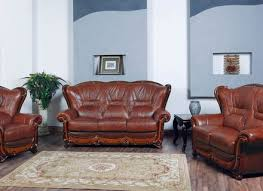 Plush Leather Sofa Attractive Leather Sofa Loveseat Types Of Leather Sofa And Alley