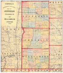 County Map Illinois by 1869 Williamson Franklin And Jefferson County Map Williamson