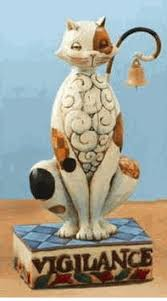jim shore heartwood creek vigilance cat figurine liquidation sale