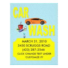 car wash flyers u0026 programs zazzle