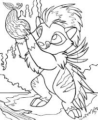 neopets geraptiku colouring pages