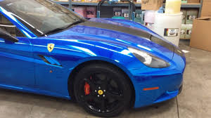 chrome ferrari ferrari california chrome blue ferrari wrap