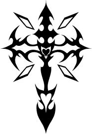 cool christmas ornament cross tattoo clip art tribal heart tatto