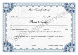 example of share certificate 21 stock certificate templates free