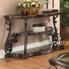 Metal Entry Table Coaster 702449 Angus Metal Scroll Sofa Table In Myrtle