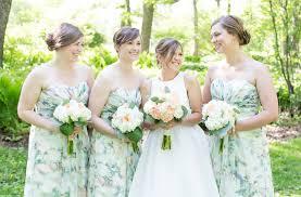 floral bridesmaid dresses floral bridesmaid dresses at a garden wedding