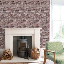 brick wallpaper vintage peel and stick