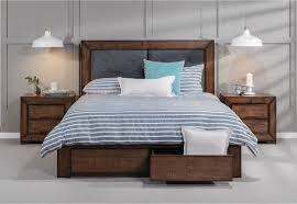 Super Amart King Bed by Boulder King Bed With 2 Drawer Base Storage Amart Furniture